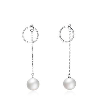 Damen Tropfen-Ohrringe Imitierte Perlen KubikzirkoniaBasis Kreisförmiges Einzigartiges Design Anhänger Stil Natur Geometrisch