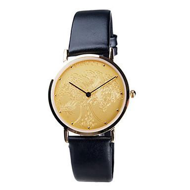 Heren Dress horloge Modieus horloge Kwarts Waterbestendig Leer Band Zwart