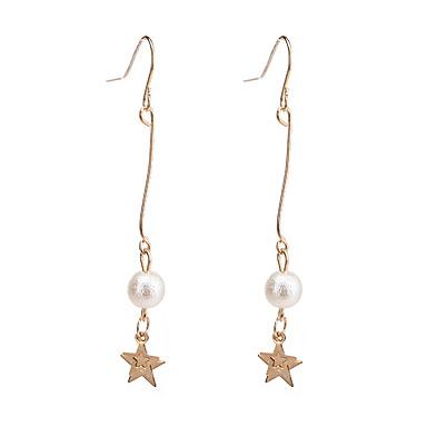 Damen Tropfen-Ohrringe Imitierte Perlen Anhänger Stil Aleación Sternenform Schmuck Für Veranstaltung / Fest Alltagskleidung