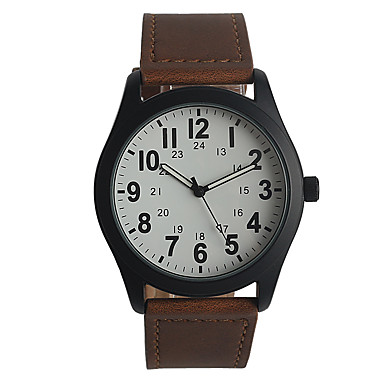 Heren Modieus horloge Japans Kwarts / PU Band Informeel Elegant Bruin