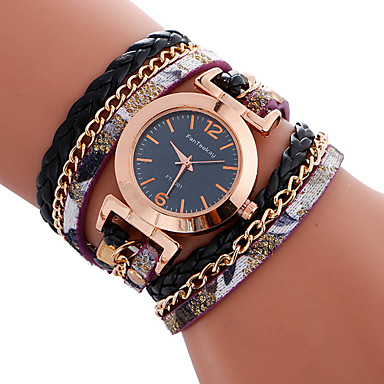 Dames Armbandhorloge Unieke creatieve horloge Vrijetijdshorloge Sporthorloge Modieus horloge Kwarts Leer Band Amulet Luxe Creatief