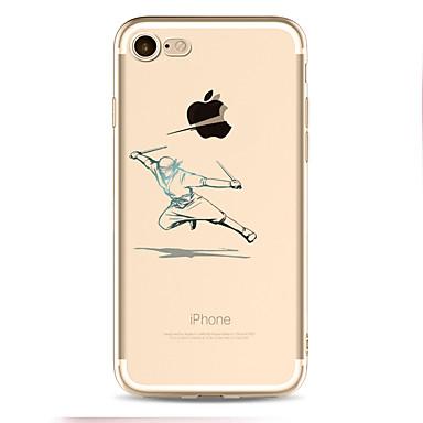 Voor iPhone X iPhone 8 Hoesje cover Patroon Achterkantje hoesje Spelen met Apple-logo Zacht TPU voor Apple iPhone X iPhone 7s Plus iPhone