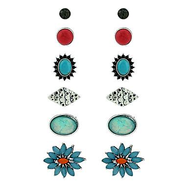 للمرأة أقراط الزر هندسي راتينج Geometric Shape مجوهرات من أجل عيد ميلاد حفلة/سهرة مواعدة شارع كاجوال/يومي