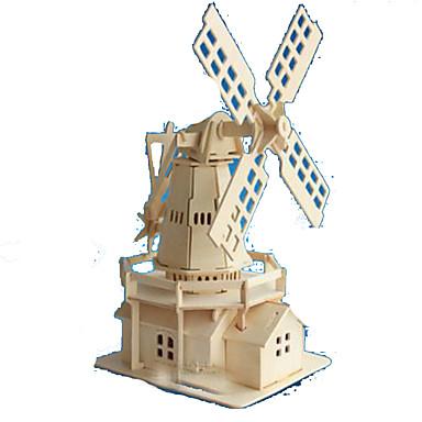Puzzle 3D Puzzle Modele de Lemn Μοντέλα και κιτ δόμησης Dreptunghiular Castel Clădire celebru Arhitectură 3D Lemn Lemn natural Unisex