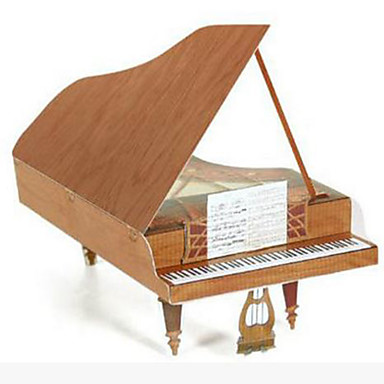 3D - Puzzle Papiermodel Spielzeuginstrumente Modellbausätze Papiermodelle Spielzeuge Quadratisch Piano Musik Instrumente 3D Heimwerken
