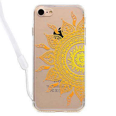 Hoesje voor iphone 7plus 7 kat bloempatroon acryl achterblad en tpu rand materiaal nek koord 6s plus 6plus 6s 6 zie 5s 5