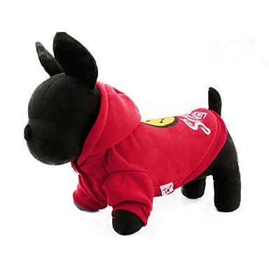 كلب هوديس ملابس الكلاب كاجوال/يومي كرتون أصفر أحمر