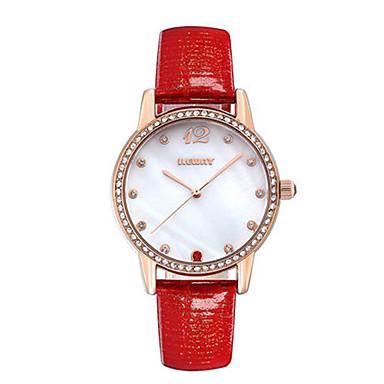 Dames Modieus horloge Kwarts Leer Band Wit Rood Paars