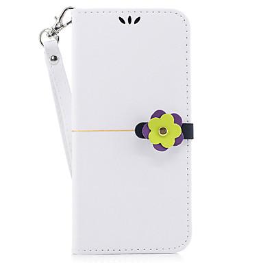 hoesje Voor Samsung Galaxy S8 Plus S8 Portemonnee Kaarthouder met standaard Flip Magnetisch Volledige behuizing Effen Kleur Hard PU-leer