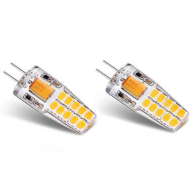 BRELONG® 2pcs 3W 300 lm G4 Becuri LED Bi-pin T 20 led-uri SMD 2835 Alb Cald Alb