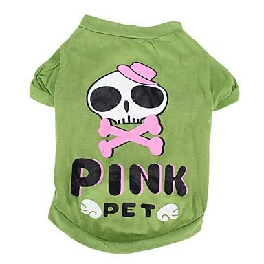 Hond kostuums T-shirt Hondenkleding Cosplay Doodskoppen Groen