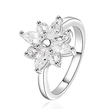 Damen Ring Kubikzirkonia Basis Einzigartiges Design Blumen Stil Blumen Herz Geometrisch Freundschaft T¨¹rkisch Simple Style Klassisch