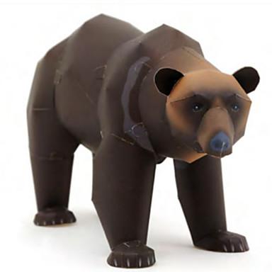 Puzzle 3D Modelul de hârtie Lucru Manual Din Hârtie Μοντέλα και κιτ δόμησης Pătrat Caini Urs 3D Animale Reparații Hârtie Rigidă pentru