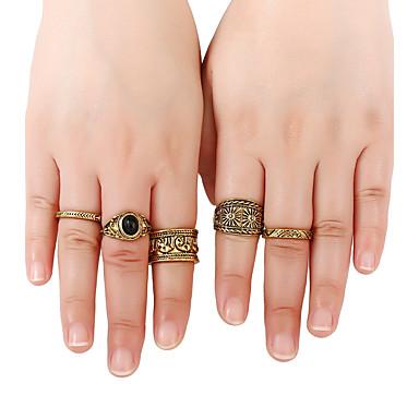 Pentru femei manşetă Ring Inel Band Ring Γεωμετρικά De Bază film Bijuterii Hip-Hop Stâncă stil minimalist Metalic Auriu Aliaj Metalic