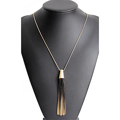 Pentru femei Franjuri / Lung Coliere cu Pandativ - Declarație, Stil Atârnat, Ciucure Auriu Coliere Pentru Cadouri de Crăciun, Petrecere, Absolvire