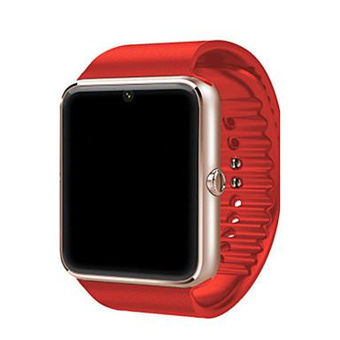 Heren Smart horloge Modieus horloge Digitaal Waterbestendig Rubber Band Zwart Rood Bruin