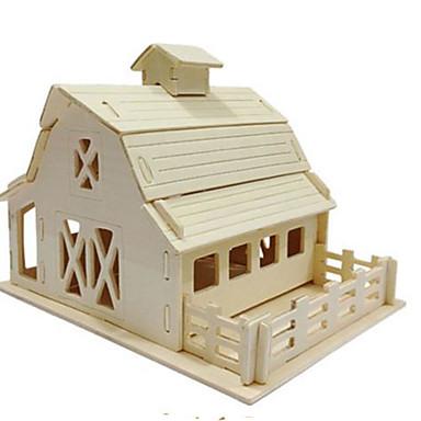Puzzle 3D Puzzle Μοντέλα και κιτ δόμησης Clădire celebru Arhitectură 3D Reparații Lemn natural Clasic Pentru copii Unisex Cadou