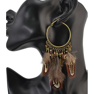 Damen Tropfen-Ohrringe Personalisiert Luxus Kreisförmiges Einzigartiges Design Anhänger Quaste Klassisch Retro Böhmische Grundlegend Sexy