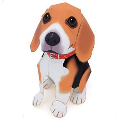 3D-puzzels Bouwplaat Papierkunst Modelbouwsets Honden Dieren Simulatie DHZ Hard Kaart Paper Klassiek Schattig Kinderen Jongens Unisex