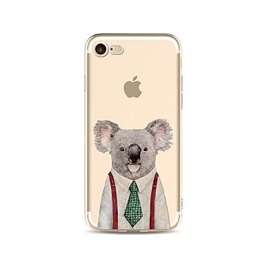 غطاء من أجل Apple iPhone X iPhone 8 Plus شفاف نموذج غطاء خلفي كارتون حيوان ناعم TPU إلى iPhone X iPhone 8 Plus iPhone 8 فون 7 زائد فون 7