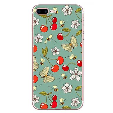 Hoesje voor apple iphone 7 7 plus hoesje hoesje vlinder bloem patroon hd geschilderd tpu materiaal zacht geval telefoon hoesje voor iphone