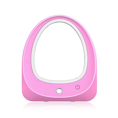 ليد مضاءة ماكياج مرآة مع المرطب المحمولة ماكياج ماكياج التجميل مرآة مكتب منضدية