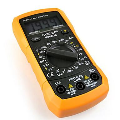 hyelec ms8233b işlevli mini dijital multimetre / arka ışık