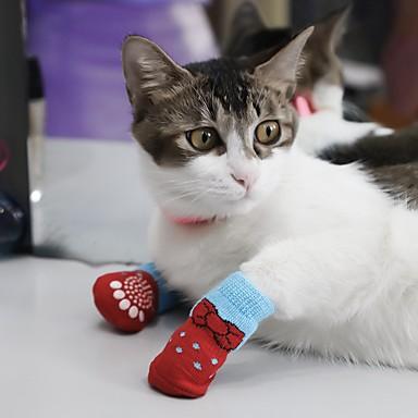 Hund Socken Lässig/Alltäglich warm halten Sport Tier Grau Rot Blau Rosa Für Haustiere