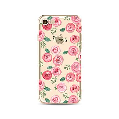 Hülle Für Apple iPhone X iPhone 8 Plus Transparent Muster Rückseitenabdeckung Wort / Satz Blume Weich TPU für iPhone X iPhone 8 Plus