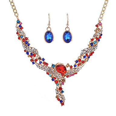3d0385049278c نسائي الماس الاصطناعي مجموعة مجوهرات سيدات