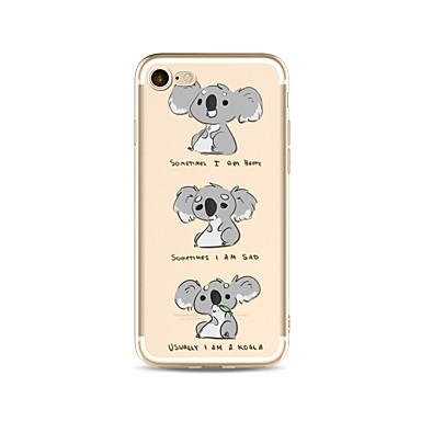 Hülle Für Apple iPhone X iPhone 8 Plus Transparent Muster Rückseitenabdeckung Wort / Satz Cartoon Design Tier Weich TPU für iPhone X