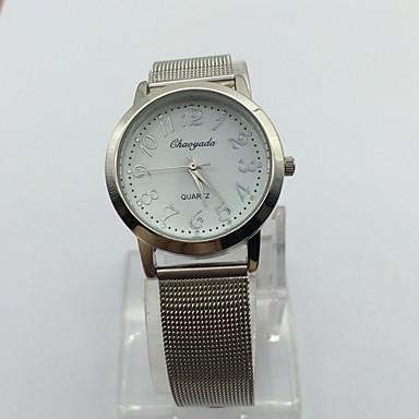 Dames Dress horloge Polshorloge Kwarts Metaal Band Vrijetijdsschoenen Zilver