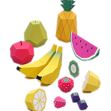 3D - Puzzle Papiermodel Spielzeuge Quadratisch Frucht 3D Heimwerken Simulation Hartkartonpapier keine Angaben Stücke