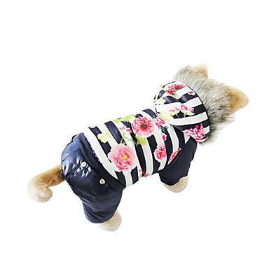 Hond Jassen Donzen jacks Hondenkleding Flora / Botanisch Koffie Rood Blauw Katoen Dons Kostuum Voor huisdieren Heren Dames Casual /