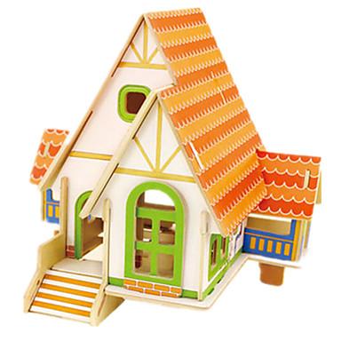 Robotime 3D-puzzels Legpuzzel Houten puzzels Hout Model Modelbouwsets Beroemd gebouw Huis Architectuur 3D DHZ Kaart Papier Hout Klassiek