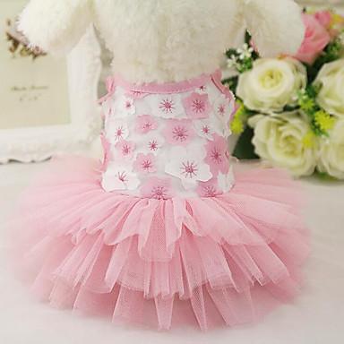 Hond Jurken Hondenkleding Casual/Dagelijks Prinses Paars Roze Kostuum Voor huisdieren