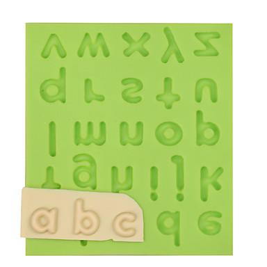 kleine letter silicone fondant mal taart decoratie gereedschappen voor chocolade kleur willekeurig