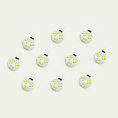 10pcs 1W 75 lm G4 Becuri LED Bi-pin 6 led-uri SMD 5630 Alb Cald Alb DC 12V