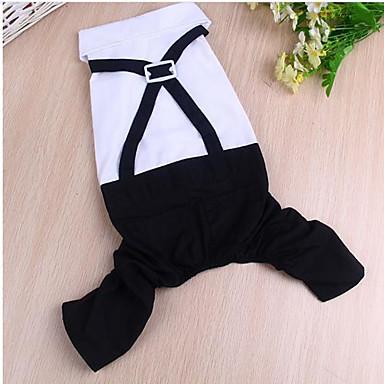 Hund Mäntel Hundekleidung Lässig/Alltäglich Solide Schwarz/Weiß Kostüm Für Haustiere