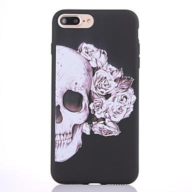 Hülle Für Apple iPhone 8 iPhone 8 Plus Mattiert Muster Rückseite Totenkopf Motiv Weich TPU für iPhone 8 Plus iPhone 8 iPhone 7 Plus
