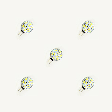 5pcs 1.5W 160lm G4 Becuri LED Bi-pin 9 LED-uri de margele SMD 5630 Alb Cald Alb 12V