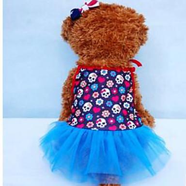 Câine Σμόκιν Îmbrăcăminte Câini Mată Rosu Albastru Material Textil Costume Pentru animale de companie Vară Pentru femei Casul / Zilnic