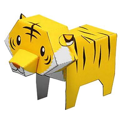3D-puzzels Bouwplaat Modelbouwsets Papierkunst Speeltjes Cirkelvormig Tiger 3D Dieren DHZ Unisex Stuks