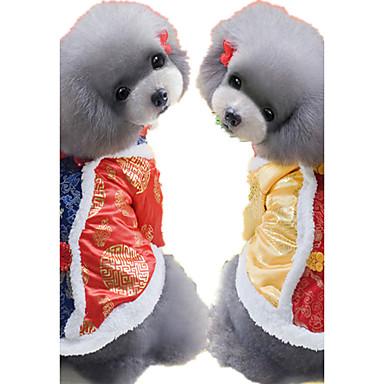 Hund Pullover Hundekleidung Lässig/Alltäglich Geometrisch Gelb Rot Kostüm Für Haustiere