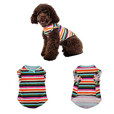 Hund Weste Hundekleidung Streifen Regenbogen Terylen Kostüm Für Haustiere Sommer Lässig / Alltäglich