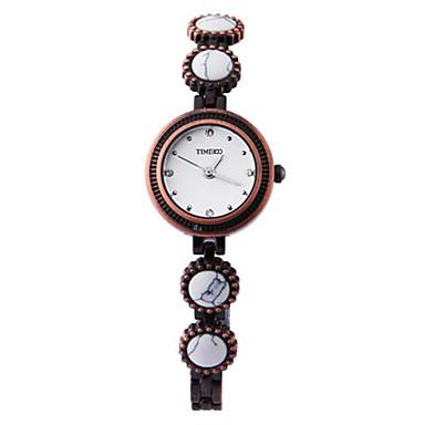 Dames Modieus horloge Kwarts Roestvrij staal Band Vintage Zwart Wit Blauw Orange