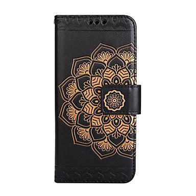 غطاء من أجل Samsung Galaxy S8 Plus S8 حامل البطاقات محفظة قلب نموذج مطرز غطاء كامل للجسم ماندالا نمط زهور قاسي جلد PU إلى S8 Plus S8 S7