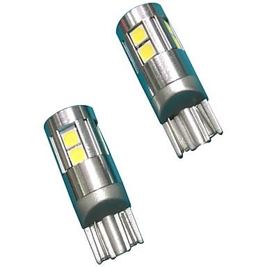 Material complet din aluminiu 5w design lentilă t10 can-bus condus bec culoare albă (2buc)