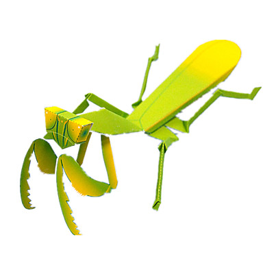 Puzzle 3D Modelul de hârtie Lucru Manual Din Hârtie Μοντέλα και κιτ δόμησης Pătrat Mantis Insectă 3D Simulare Reparații Clasic Unisex