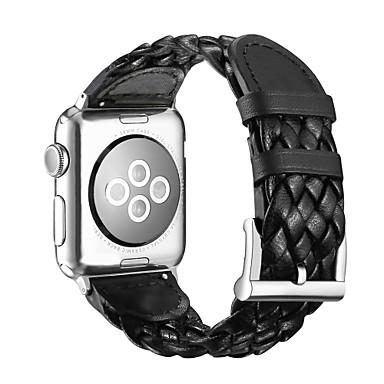 حزام إلى Apple Watch Series 3 / 2 / 1 Apple شريط المعصم بكلة كلاسيكية جلد طبيعي